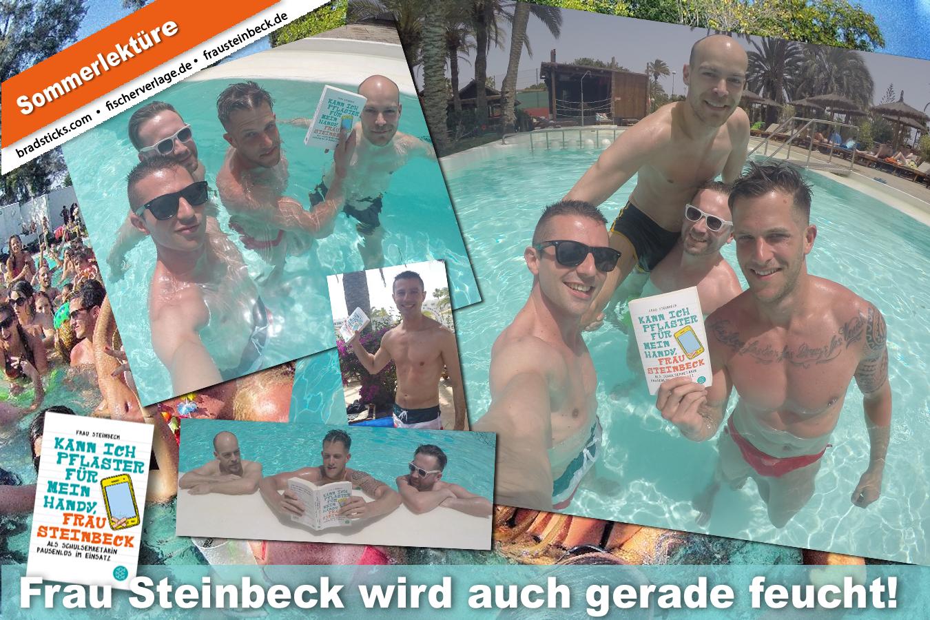 Frau Steinbeck am Pool