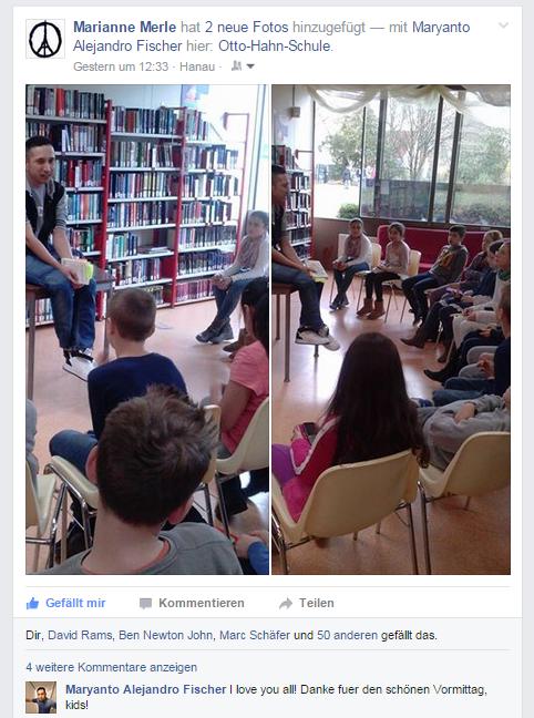 Lesung Otto-Hahn-Schule Maryanto Fischer
