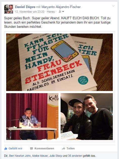 Maryanto Fischer Autor Hamburg Kann ich Pflaster für mein Handy Frau Steinbeck